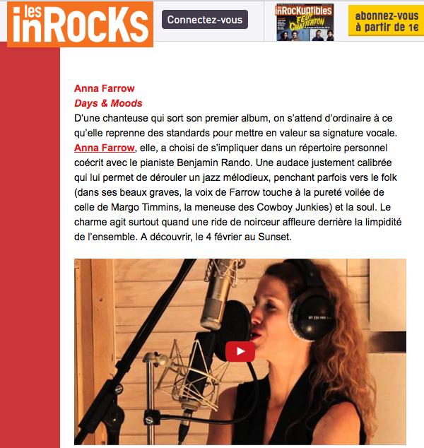 Les Inrock : Anna Farrow, sortie d'album
