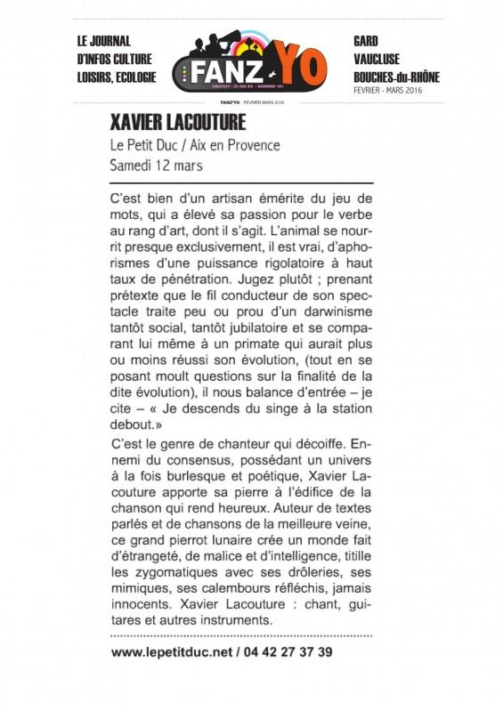 Fanz'Yo : Xavier LACOUTURE