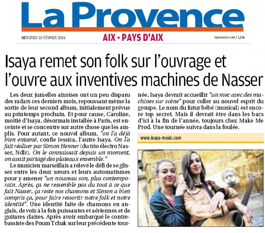 La Provence Isaya fev